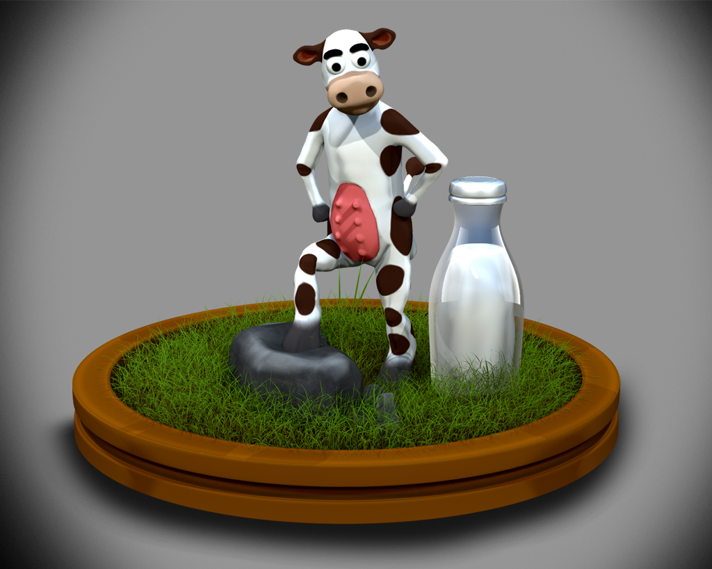 Cow on Pedestal
