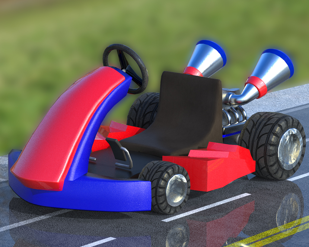 Kart racing game in Unity3D
