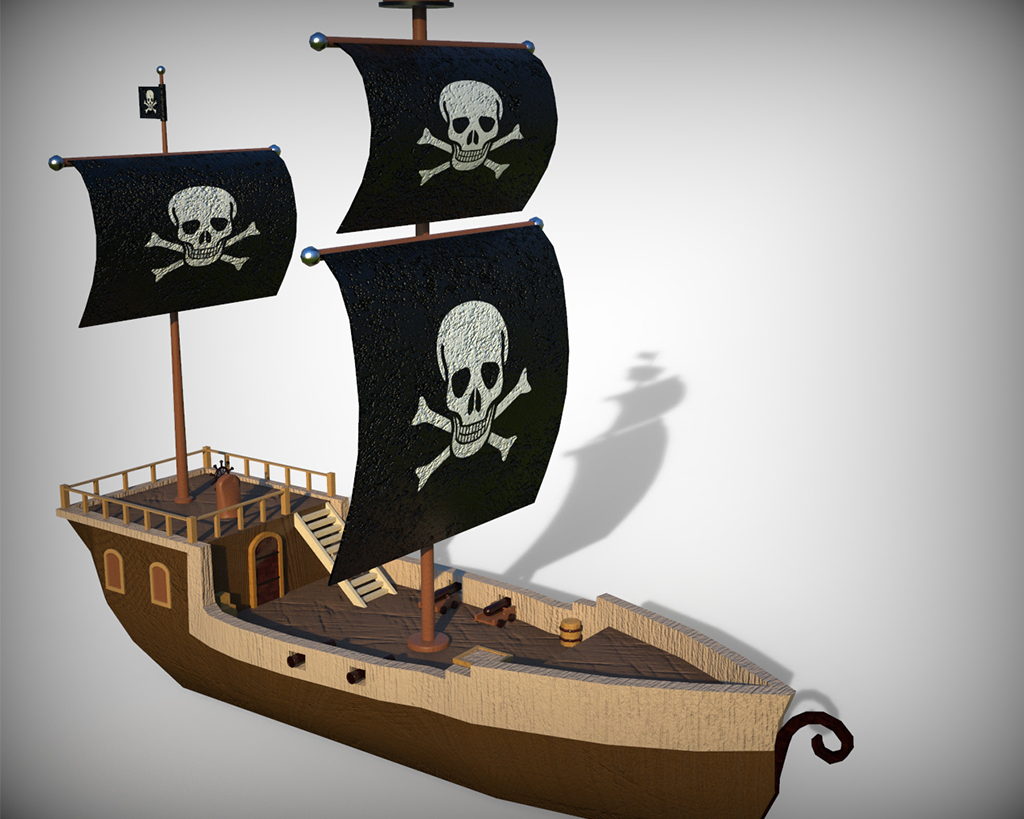 Pirate Ship Low poly